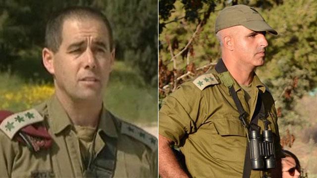 """מפקדים חדשים לנח""""ל ולצנחנים. אל""""מ הכהן (מימין) ואל""""מ אלוני (צילום: דובר צה""""ל)"""