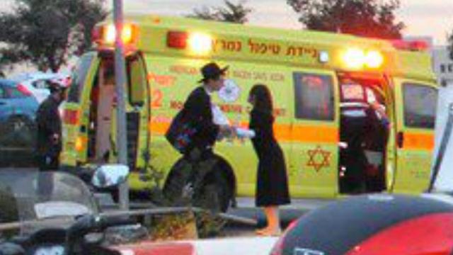 Haya's parents at scene of attack (Photo: United Hatzalah) (Photo: United Hatzalah)