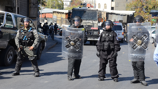 Israeli security forces in Silwan (File photo: Mohammad Shinawi)