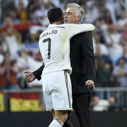 רונאלדו ואנצ'לוטי ינסו להמשיך לשבור שיאים (צילום: AFP) (צילום: AFP)