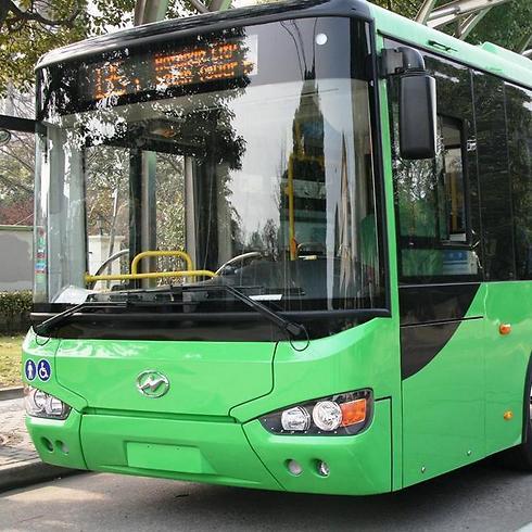 """האוטובוס החשמלי (צילום: יח""""צ)"""