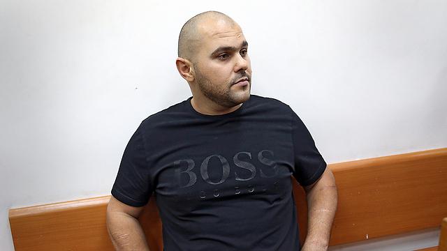 Michael Mor, during a remand hearing, Oct. 2014 (Photo: Zvika Tishler)