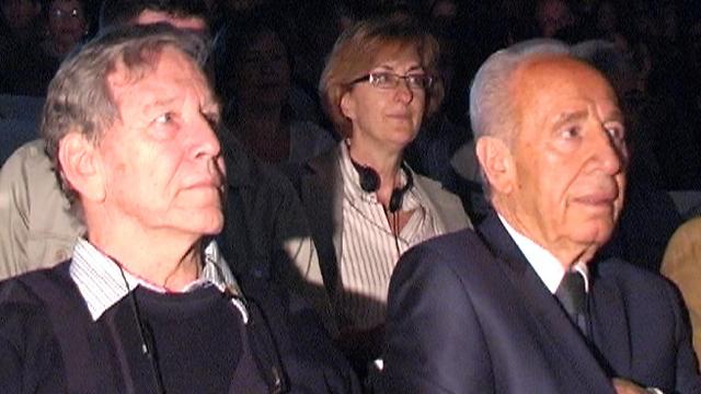 עם נשיא המדינה לשעבר שמעון פרס (צילום: רועי עידן) (צילום: רועי עידן)
