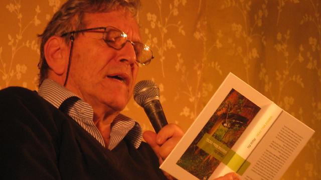 Reading from his own work at the 2009 Jerusalem Book Festival in 2009 (Photo: Merav Yudolevitch)  (Photo: Merav Yudolevitch)