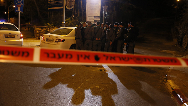 The scene of the attack on Yehuda Glick last month (Photo: AFP) (Photo: AFP)