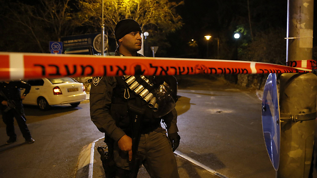The scene of the assassination attempt of Rabbi Yehuda Glick on Wednesday night in Jerusalem. (Photo: AFP) (Photo: AFP)