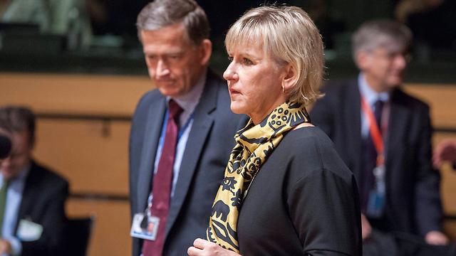 הכול התחיל משבדיה. שרת החוץ מרגוט וולסטרום (צילום: EPA) (צילום: EPA)