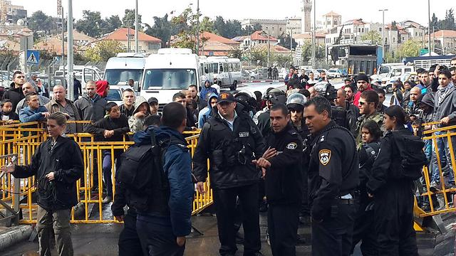 Interior Minister Aharonovich at the Temple Mount (Photo: Mohammed Shinawi) (Photo: Mohammed Shinawi)