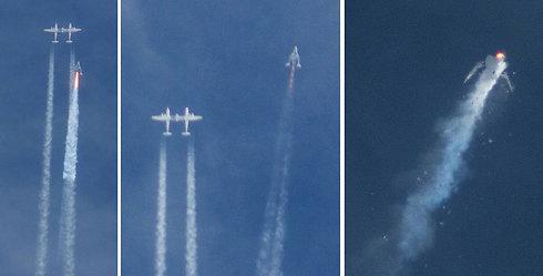 ההתנתקות מהמטוס וההתרסקות (צילום: AP) (צילום: AP)