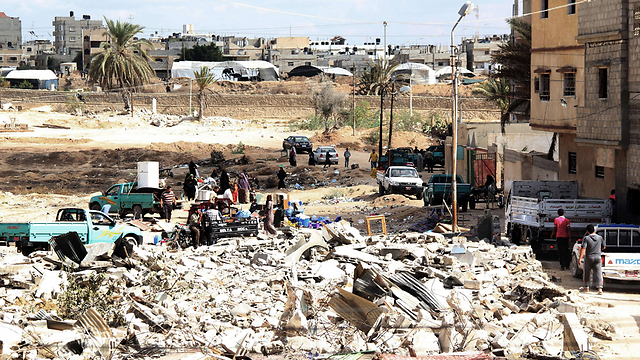 Egyptian Rafah in ruins as the army creates a buffer zone (Photo: AFP) (Photo: AFP)