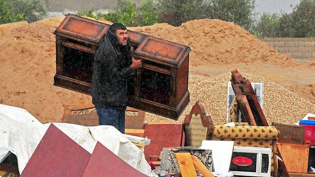Egyptian residents evacuate Rafah (Photo: EPA) (Photo: EPA)