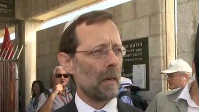 """פייגלין בהר הבית, היום. """"הסיבה להסתה היא המדיניות הישראלית"""" (צילום: עופר מאיר) (צילום: עופר מאיר)"""