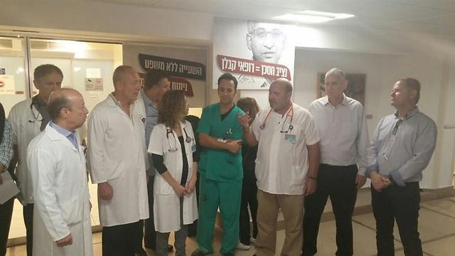 חדרי הניתוח מושבתים במחאה. בית החולים שיבא (צילום: ארגון רופאי המדינה) (צילום: ארגון רופאי המדינה)