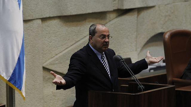 Ahmad Tibi at Knesset (Photo: Atta Awisat)