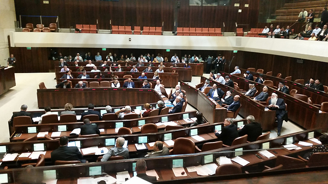 120 seat Knesset (Photo: Eli Mendelbaum)