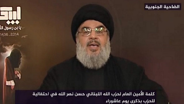 Will Nasrallah's troubles stop him from rushing into a general state of war against Israel? (Photo from Twitter)