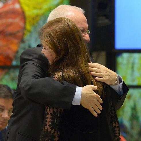 Rivlin and Daila Rabin (Photo: GPO)