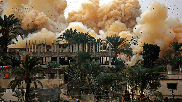 Al-Sisi recently razed the Egyptian side of the border with Gaza in a bid to wipe out smuggling. (Photo: EPA)
