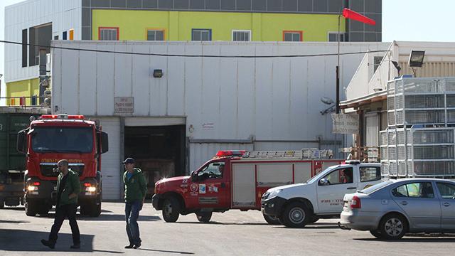 המפעל בעמק חפר שבו התרחשה הדליפה (צילום: עידו ארז) (צילום: עידו ארז)