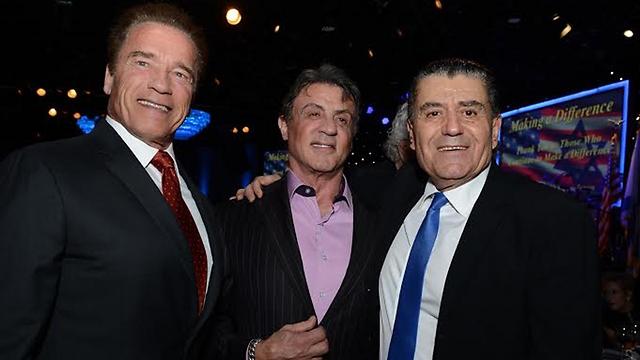 Schwarzenegger, Stallone, and Saban (Photo: Peter Halmagyl)