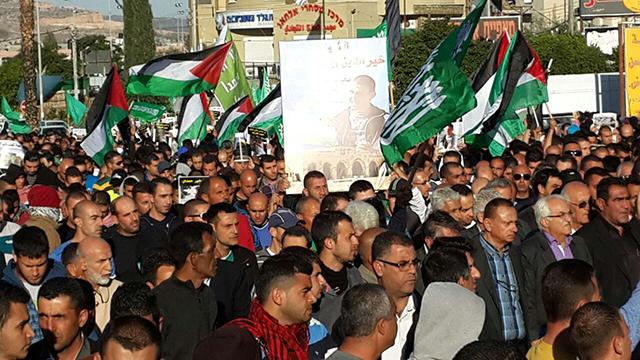 Thousands protest in Kafr Kanna, wave Palestinian flags (Photo: Hassan Shaalan) (Photo: Hassan Shaalan)