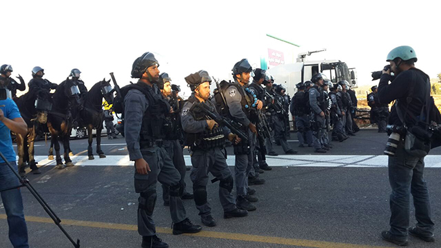 Police forces at demonstration (Photo: Hassan Shaalan) (Photo: Hassan Shaalan)