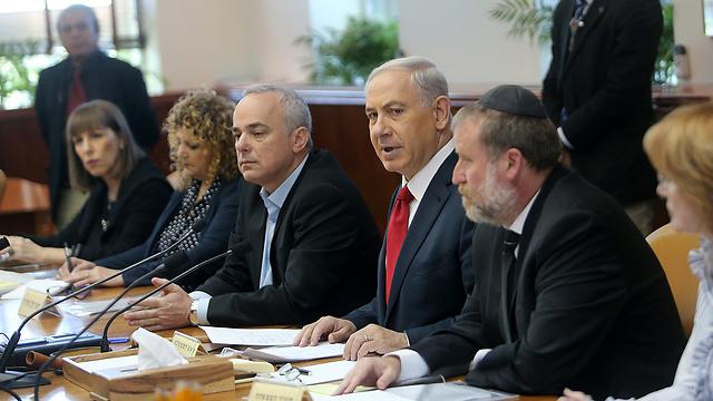 Government meeting led by Netanyahu (Photo: Alex Kulmonyski) (Photo: Alex Kolomoisky)