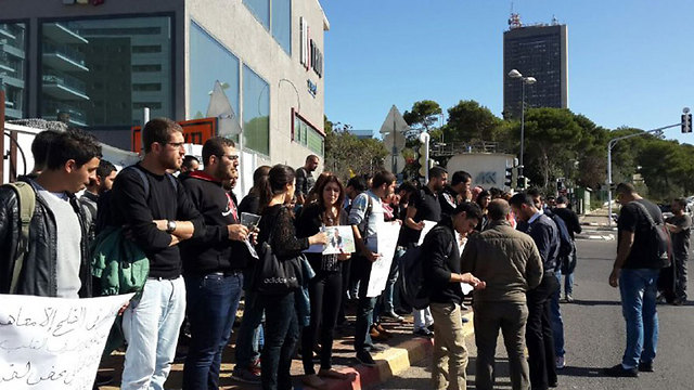 The protest in Haifa. (Photo: Ahiya Raved)