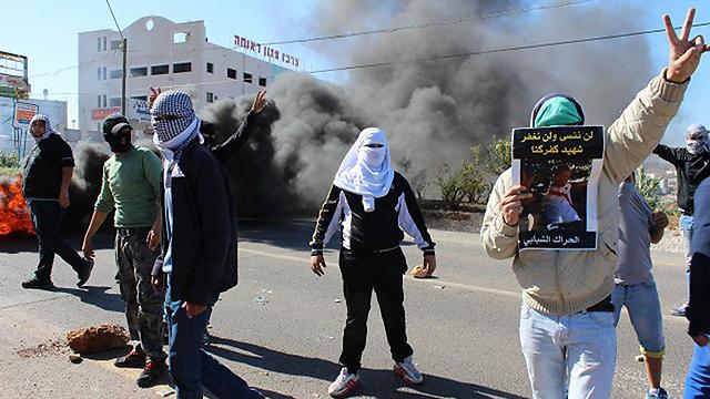 Rioting in Kafr Kanna. (Photo: alarab.net)