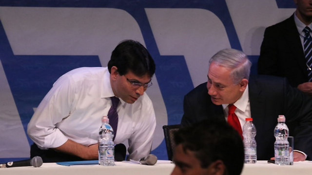 Danon (L) and PM Netanyahu competed for leadership of the Likud party in 2014 (Photo: Motti Kimchi)