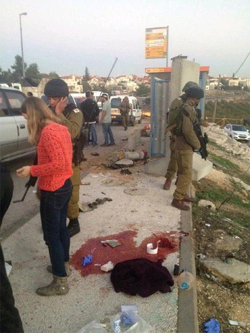 The scene of the attack in Alon Shvut