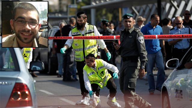 The attack in Tel Aviv that killed Almog Shiloni (Photo: Reuters) (Photo: Reuters)