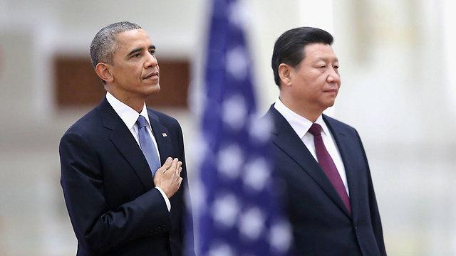 ככל שהאמריקנים יתרחקו מדרום סודן, הסינים יגבירו את מעורבותם במדינה. אובמה ושי ג'ינפינג (צילום: getty images)