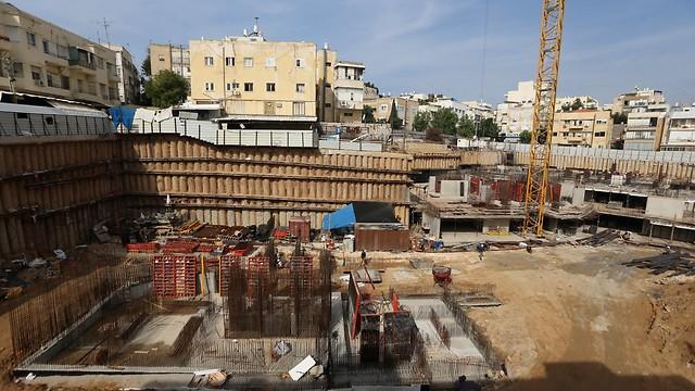 מתחם בצלאל, כיום. הבנייה החלה ב-2012 (צילום: ירון ברנר)
