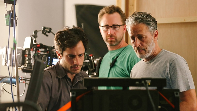 Jon Stewart on the set of Rosewater, his new film that centers around an imprisonment of an Iranian journalist. (Photo: Associated Press) (Photo: Associated Press)