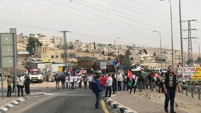הפגנות ליד ירושלים הבוקר ()