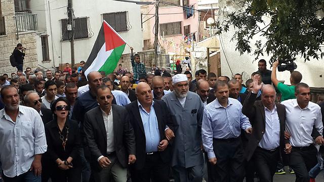 ההפגנה באום אל-פחם (צילום: מוחמד שינאווי) (צילום: מוחמד שינאווי)