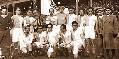 Hakoah Wien, 1925. Most of the Jewish players perished in Auschwitz.