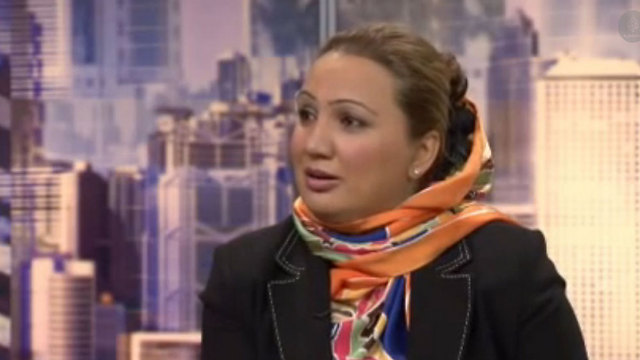 ברקזאי, חברת הפרלמנט שנפצעה בשל מאבקה למען זכויות נשים ()