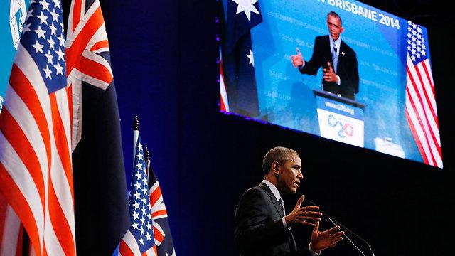 """חוזר ל""""מלחמת עולם"""" עם הרפובליקנים בקונגרס. אובמה בבריסביין, אוסטרליה (צילום: רויטרס) (צילום: רויטרס)"""