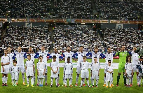 נבחרת ישראל באיצטדיון סמי עופר (צילום: אורן אהרוני)