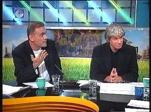 עם אורי לוי בשידורי הספורט של הערוץ הראשון (צילום: ערוץ 1)