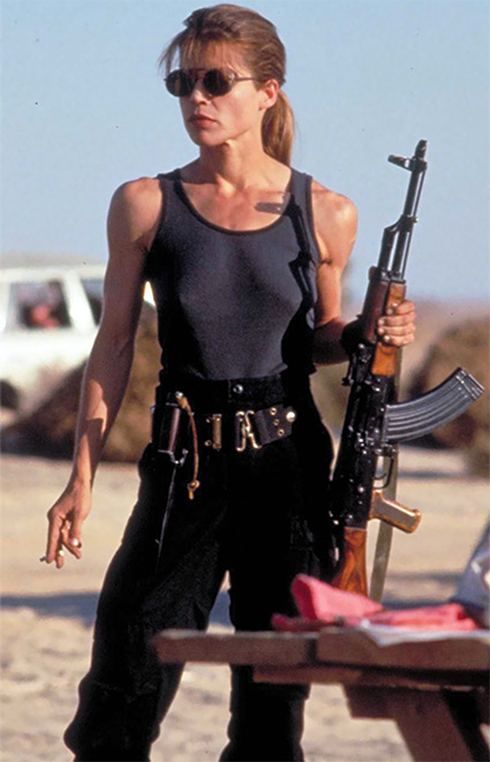 """שובה של שרה קונור. לינדה המילטון ב""""שליחות קטלנית"""""""