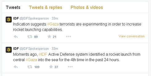 IDF Spokesperson's Unit Twitter page