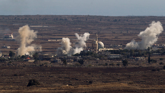 Explosions at Quneitra in Syria, not far from the Israeli border (Archive Photo: EPA)