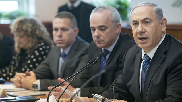 Netanyahu leads gov't meeting Sunday (Photo: Ohad Zwegenberg)