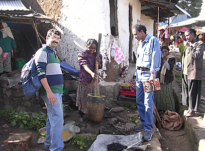 """""""במסגרת המחקר גילינו לא פחות מ-48 סוגים של לבונה בלבד, חלקם מינים נדירים שצומחים רק באתיופיה"""". פרופ' עמר (צילום: דקלה דנינו) (צילום: דקלה דנינו)"""
