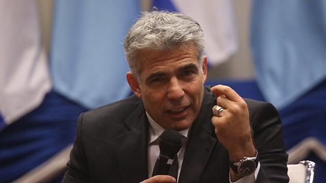 Finance Minister Yair Lapid at Tel Aviv University (Photo: Motti Kimchi)