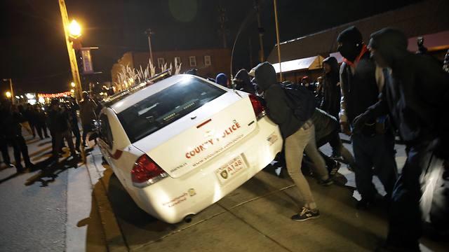 מהומות בפרגוסון  (צילום: AP) (צילום: AP)