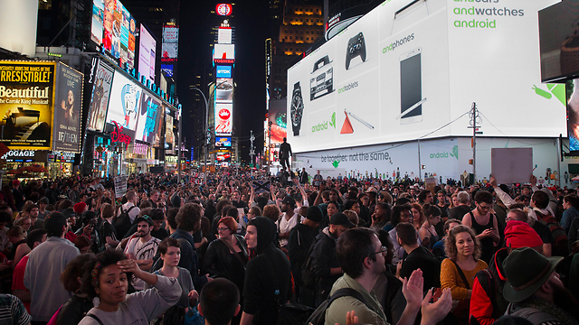 ובטיימס סקוור בניו יורק (צילום: AP) (צילום: AP)